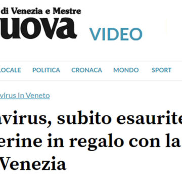 Coronavirus – Veneto: mascherine allegate coi giornali del Gruppo Gedi? E' concorrenza sleale…