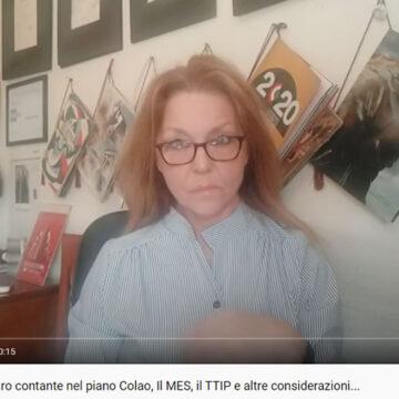 La tassazione del denaro contante nel piano Colao, Il MES, il TTIP e altre considerazioni… Videotrasmissione condotta da Emilia Urso Anfuso