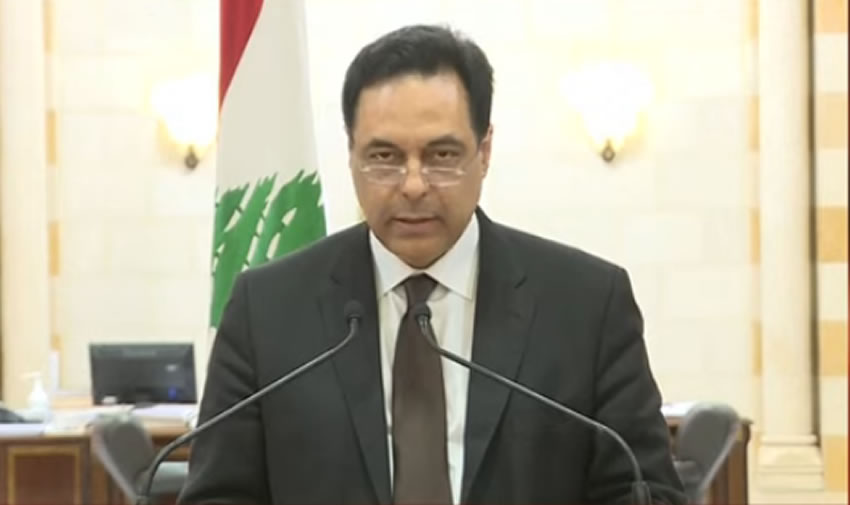Il primo ministro libanese annuncia le dimissioni del governo per l'esplosione di Beirut