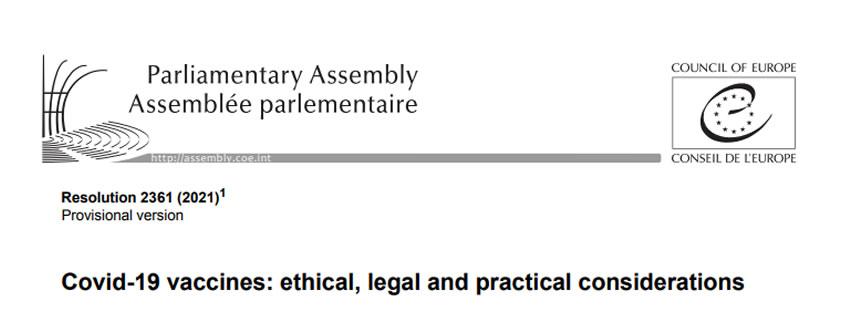 Vaccinazione obbligatoria? Un po' di chiarezza sulla risoluzione N° 2361 della Corte Europea