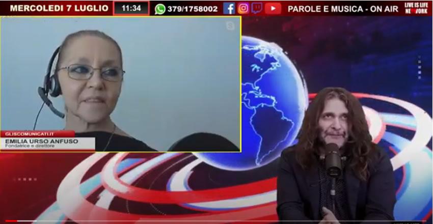 Paolo Sandokan Montanari intervista il direttore Emilia Urso Anfuso – Video registrazione della trasmissione in diretta